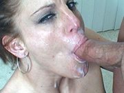 Ravishing redhead gives nasty rim job and blow job