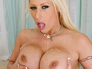 Busty blonde babe Candy Manson fucked and facialed