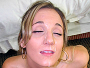 Nasty nymph Jerzi Lynn giving blow job with facial